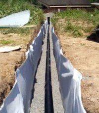 Геотекстиль для дренажных труб