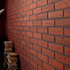 укладка клинкерной плитки на стену