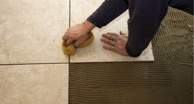 укладка мраморных плит